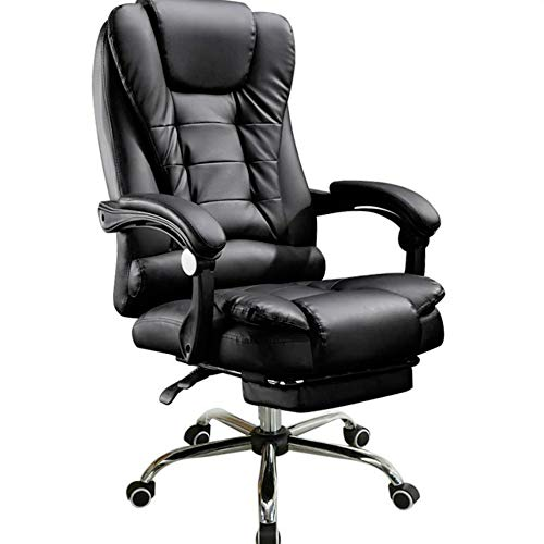 Office-Chair Footrest Swivel Executive High-Reclining Adjustable with Back VEVOR