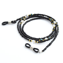 Retail Black Beads Glasses Eyewear Chain Holder Fashion Sun glasses Cord