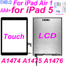 цена на AAA+ for iPad 5 LCD For iPad Air 1 A1474 A1475 A1476 LCD Display Touch Screen Digitizer 9.7'' Screen Replacement