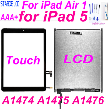 AAA+ For IPad 5 LCD For IPad Air 1 A1474 A1475 A1476 LCD Display Touch Screen Digitizer 9.7'' Screen Replacement