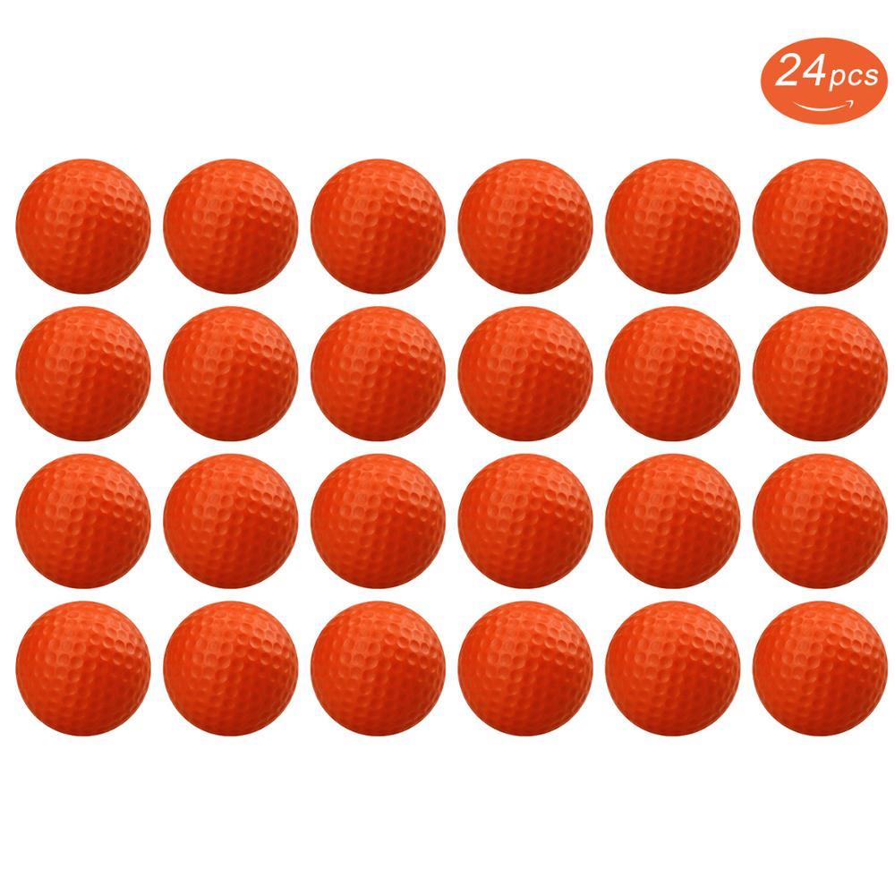 12/24pcs Crestgolf Practice Foam Golf Balls, Golf Foam Sponge Soft Elastic Practice Indoor &Outdoor Ball