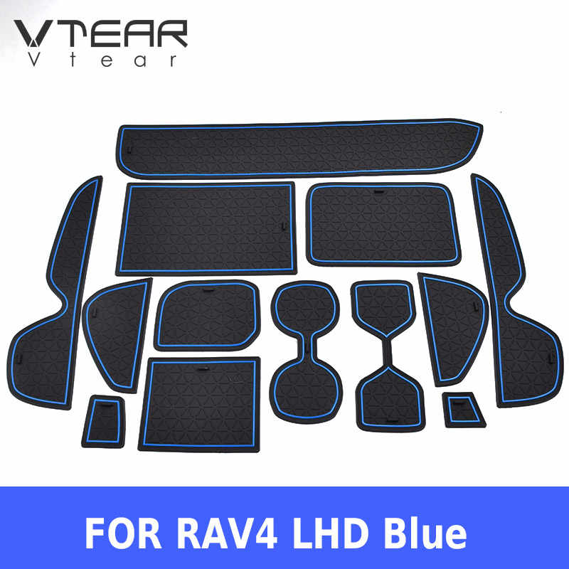 Vtear para toyota rav4 xa50 rav 4 porta esteira do sulco anti deslizamento de borracha porta slot almofada carro nanterior-acessórios de estilo do carro 2019 2020