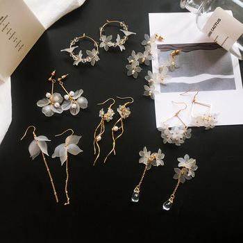 2019 New flower handmade bohemia boho earrings women fashion long hanging earrings crystal female wedding earings.jpg 350x350 - 2019 New flower handmade bohemia boho earrings women fashion long hanging earrings crystal female wedding earings party jewelry