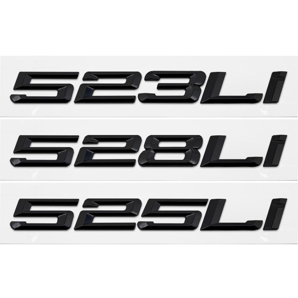 cheapest 525i 530i 535i 540i 550i Trunk Rear Emblems Badge Black Letters For BMW 5 Series F10 F11 F18 F07 E12 E28 E34 E39 E60 E61 G30 G31
