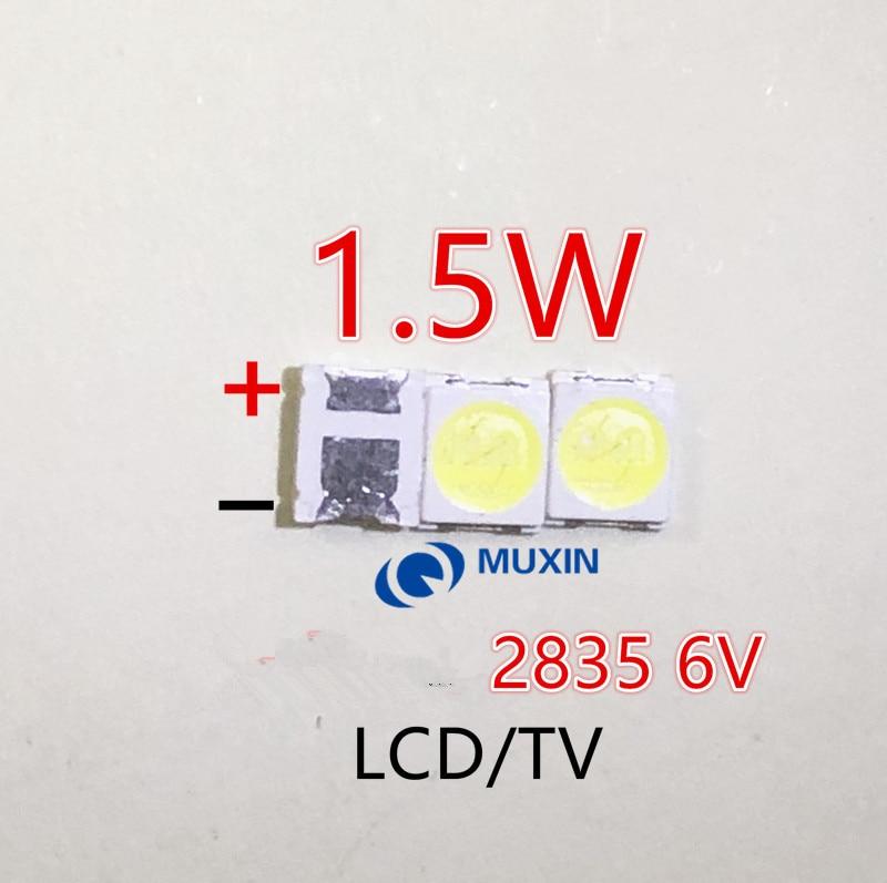 Светодиодная подсветка высокой мощности, 1,5 Вт, 6 в, 1210, 3528, 2835 лм, 50 шт.