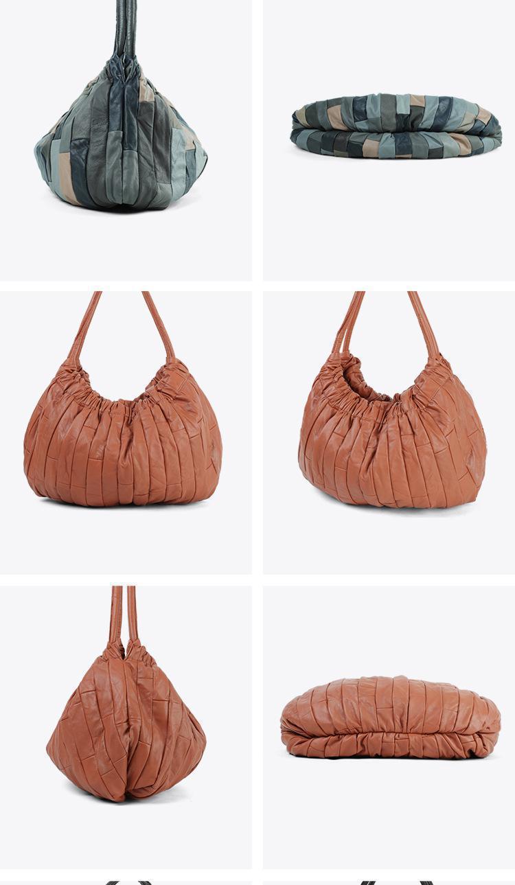 genuíno bolsa feminina bolsa moda feminina listrado