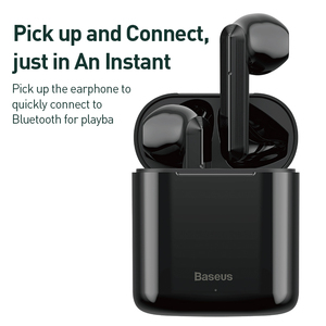 Image 5 - Baseus Bluetooth אוזניות W09 TWS Bluetooth 5.0 אוזניות אלחוטי דיבורית אוזניות סטריאו HD מדבר Auriculares Bluetooth