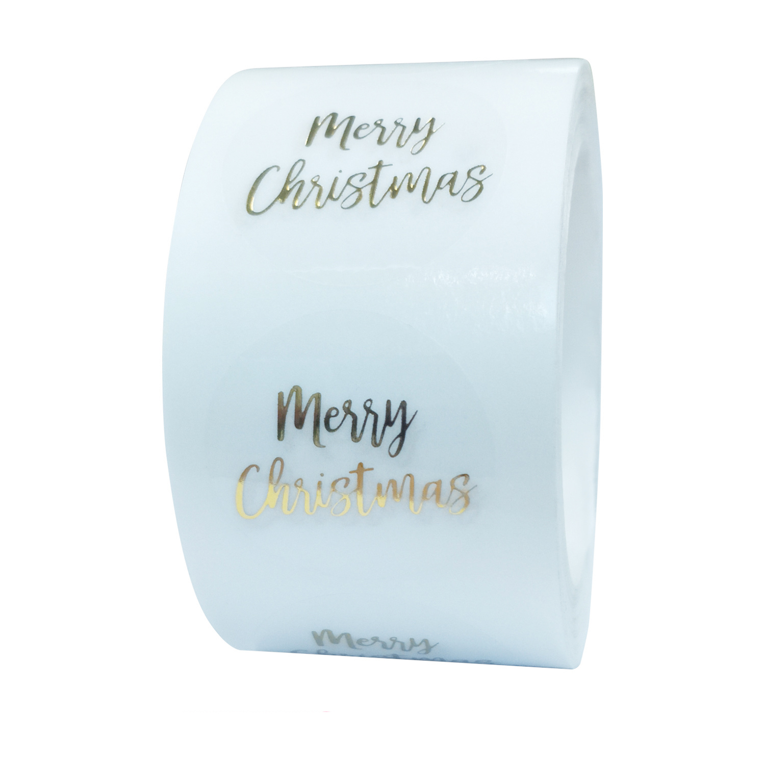 100-500pcs Round Clear Merry Christmas Stickers Thank You Card Box Package Label Sealing Stickers Wedding Decor Stationery 2