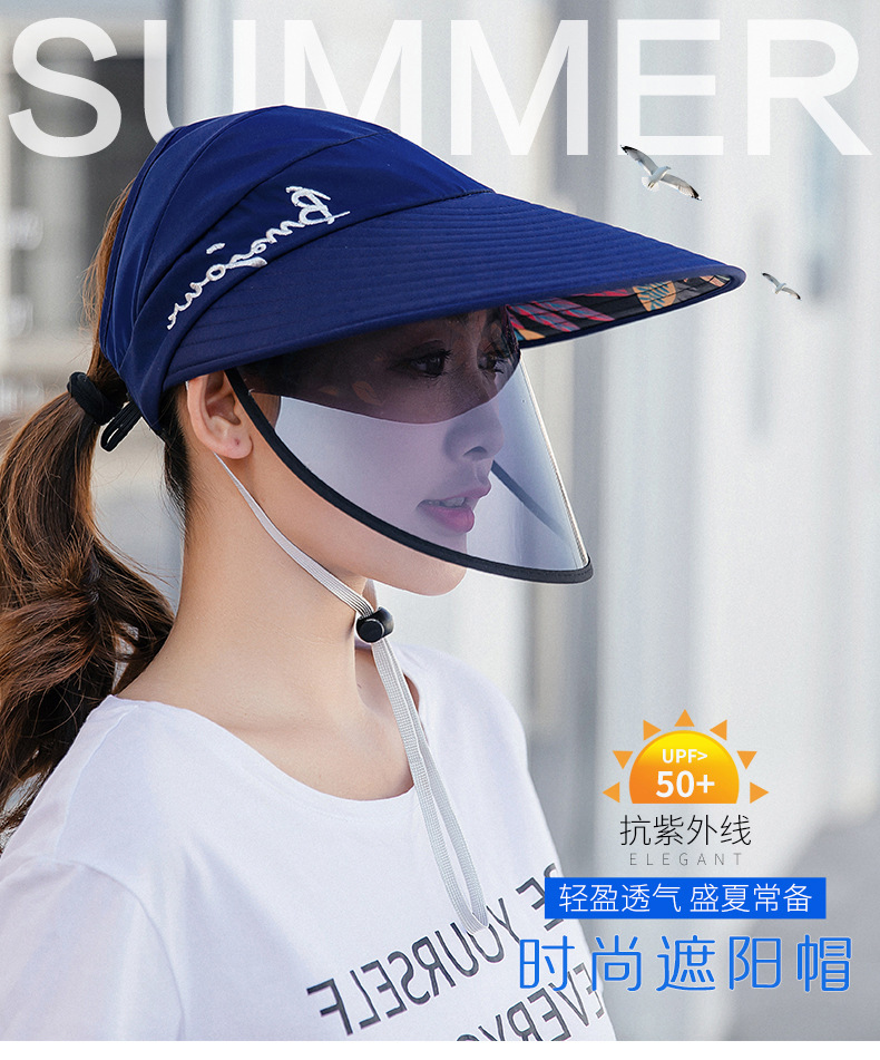 Protection Face Masks Hat Helmet Isolation Corona Respirator Antivirus Spittle UV Surgical Safety Shield Work Sun Hat For Women