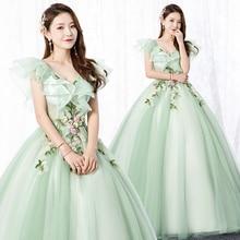 Gorgeous Princess 3D Floral Quinceanera Dresses Ball Gowns 2019 Ruffled Masquerade Sweet 16 Dress vestidos de 15 anos