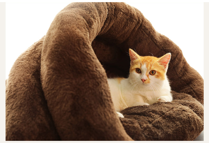 Triangle Pet bed for Small Cats Dogs Soft Nest Kennel Bed Cave House Sleeping Bag Mat Pad Tent Pets Winter Warm Cozy Beds Supply 11