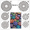 Xugar Mandala Dotting Template For Drawing Hollow Mandala Stencils Rocks Fabric Wall Art Painting Tools DIY Craft Accessories