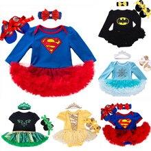 Ropa de bebé, disfraz de Superman para bebé, vestido Tutús de Fiesta infantil, Mono para recién nacido, pelele para bebé, ropa para niña, regalo de cumpleaños