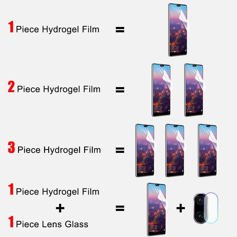 3-1 adet koruyucu 100D hidrojel Film için Huawei P10 Lite P20 P30 Pro ekran koruyucu için Huawei Mate 10 20 Pro Film değil cam