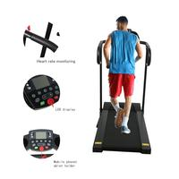 Compact Folding Treadmill 1100W Running Jogging Machine for Home with LCD Display Pad Holder BHD2