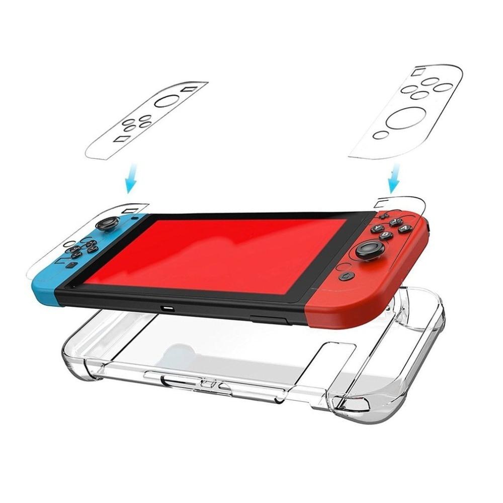 Жесткий защитный чехол из поликарбоната для Nintendo Switch NS, чехол со съемным прозрачным пластиковым корпусом, аксессуары для контроллера консо...