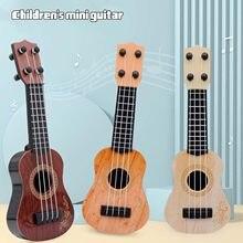 17-Polegada portátil crianças ukulele guitarra instrumento musical ukulele crianças brinquedos educativos guitarra de plástico iniciante jogadores básicos