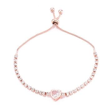 Heart Round Bracelet Simple Cute Crystal Chain Bracelet Women Charm Sweet Jewelry 5