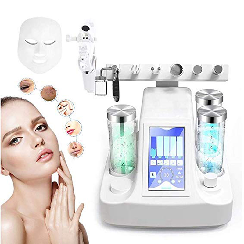 8 In 1 High-frequency Small Bubble Oxygen Machine Skin Care Injection Spray BIO Miniature Massage Microdermabrasion Equipment