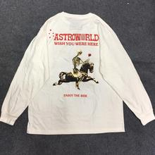 Travis Scott ASTROWORLD T Shirt SEASON PASS TEE Men Women Harajuku Tshirt Long Sleeve TRAVIS SCOTT T-shirts