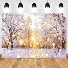 Yeele зимний Снежный Фотофон лесной светильник bokeh sun детский
