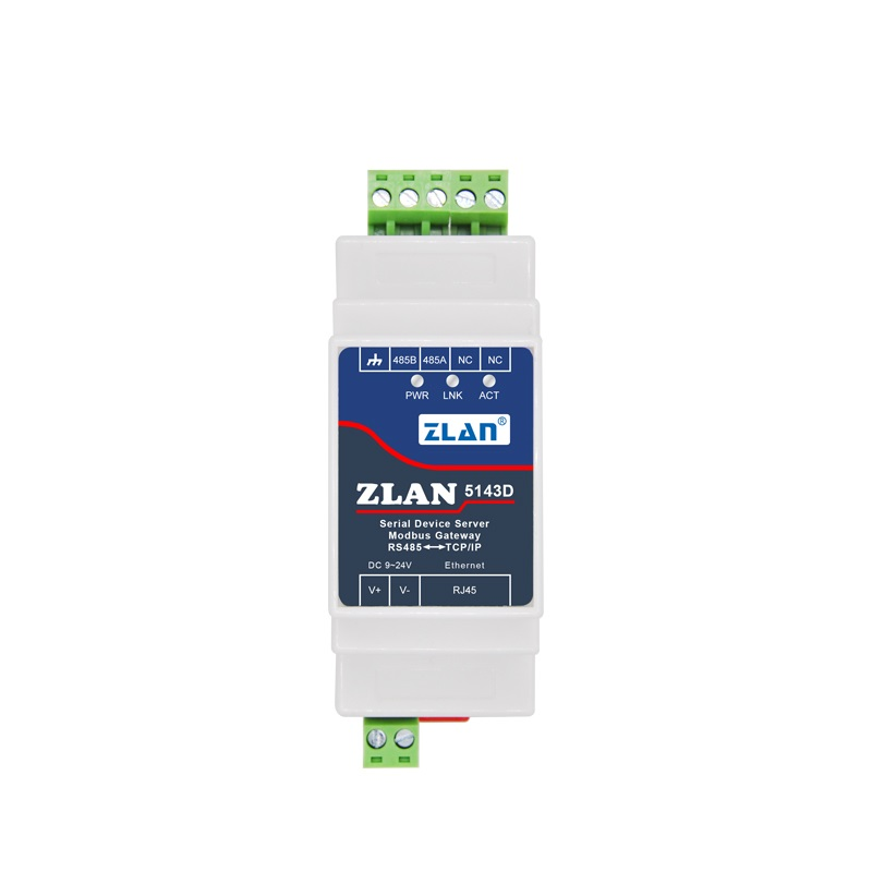 DIN-Rail Modbus RS485 SERIAL Port TO Ethernet Converter Bidirectional Transparent Transmission Between RS485 And  RJ45