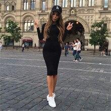 2019 Summer Autumn Hot Slim Dress Women Solid Color Chic Party Dresses Casual Sleep Wear Inside Vestidos