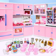 Suit Toys Play Kitchen Children Girl 3-Years-Old Simulation Acousto-Optic Cooking-Wine