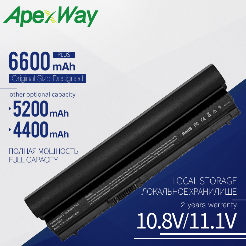 Apexway 5200 MAh 6 Cells RFJMW Laptop Battery For DELL Latitude E6320 E6330 E6220 E6230 E6120 FRR0G KJ321 K4CP5 J79X4 7FF1K FHHV
