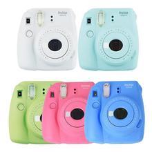 Fujifilm Instax Mini 9 мгновенная камера пленочная камера 5 цветов Fuji мгновенная фотокамера с зеркалом для селфи