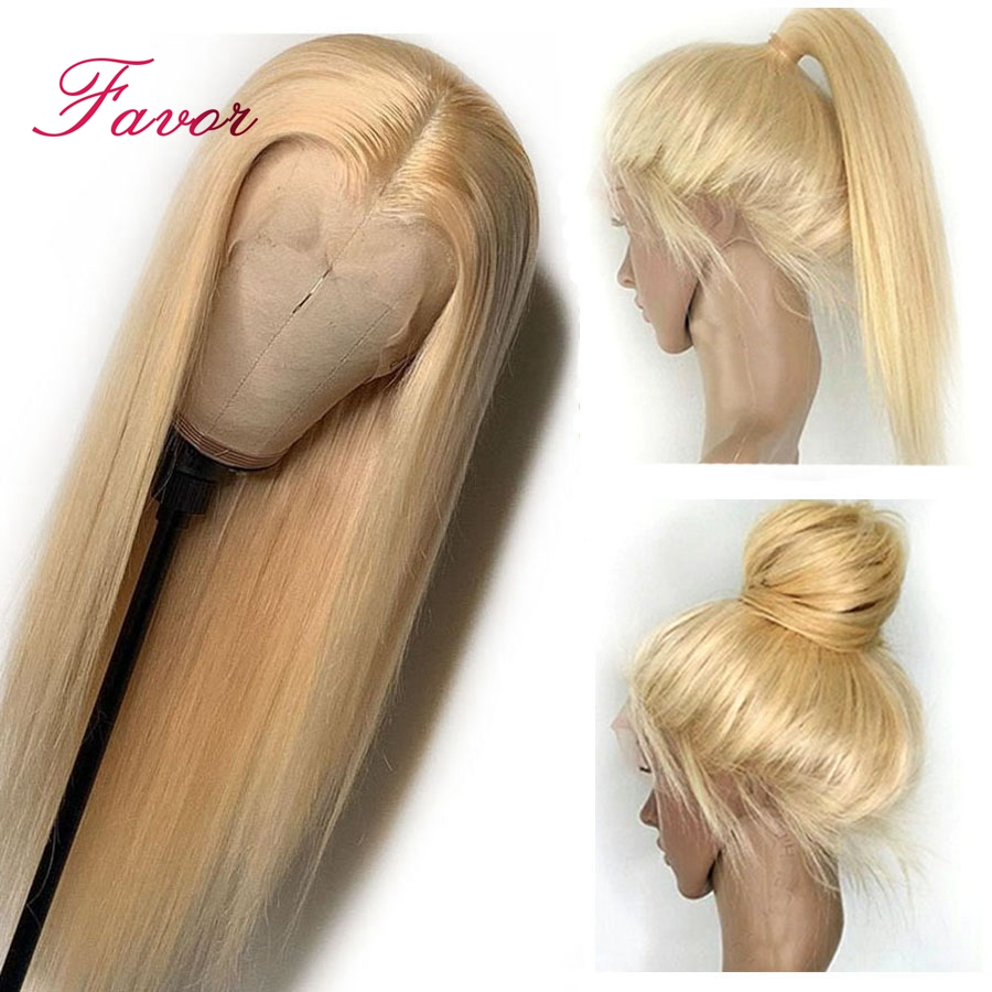 613 Blonde 13 4 Lace Front Human Hair Wigs Remy Brazilian Straight Human Hair Lace Front