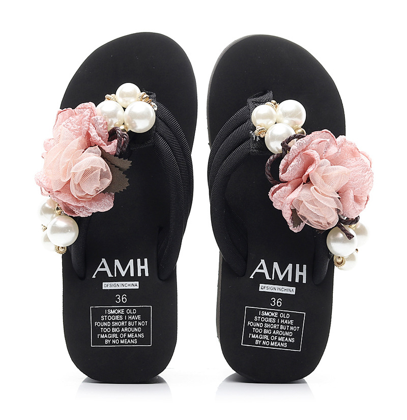 coreano inclinação com flip-flops sandálias de plataforma