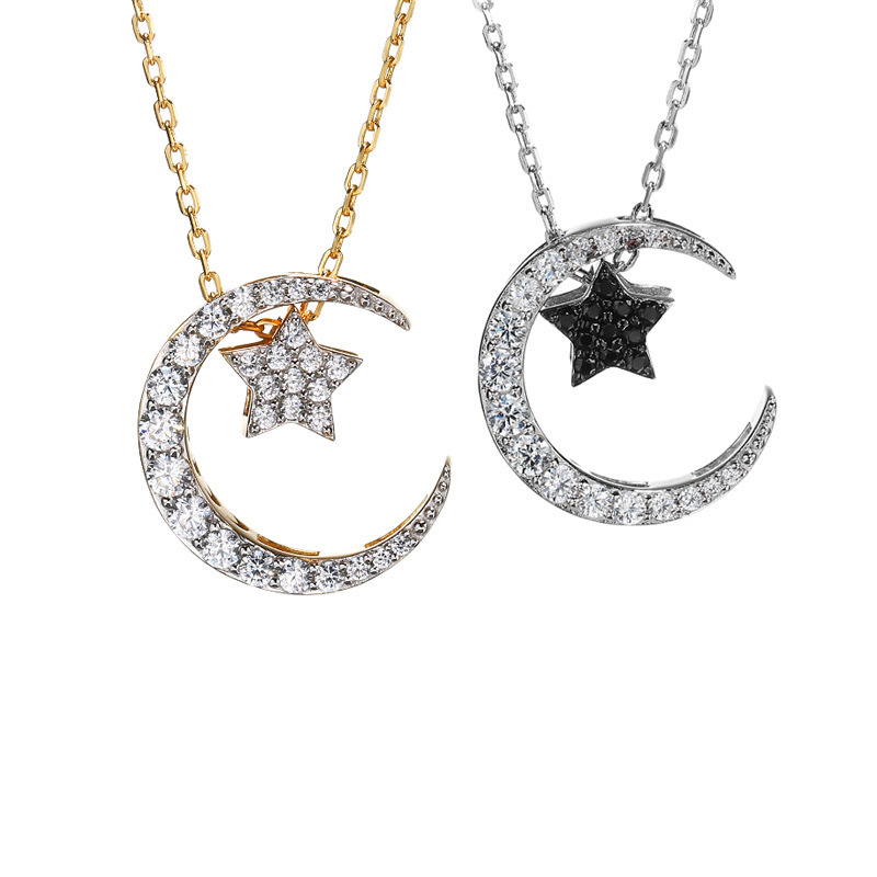 2019 collier ras du cou 925 colliers en argent Sterling pour femmes étoile Zircon 14k pendentif bijoux accessoires chaînes colliers