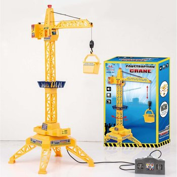 Children Tower Crane Electric Remote Control Wireless Engineering Car Children'S Toy Model With Sound