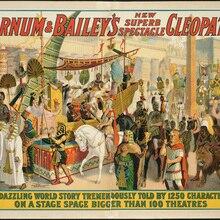 Cartel de circo Vintage americano, un mundo deslumbrante, pinturas clásicas en lienzo, pósteres de pared Vintage, pegatinas para decoración del hogar, regalo