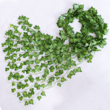 Fake Plant Vine Artificial-Flower Rattan Green-Leaves Ivy-Wall Creeper Wedding-Arch-Decoration