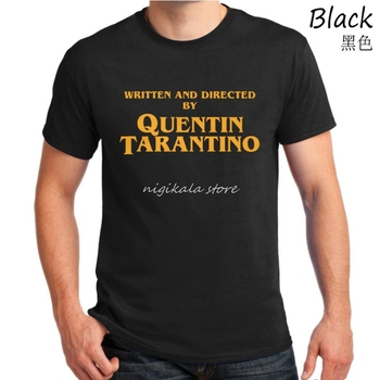 Written and Directed by Quentin Tarantino Film Movie Pulp Fiction Django Kill Bill 2 John Travolta Fashion T shirt men tops tees 1