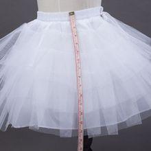 3-10 Years Children Girls White Ballet Skirt Tulle Ruffle Short Crinoline Bridal Wedding Petticoats Gown Baby Girl Underskirt