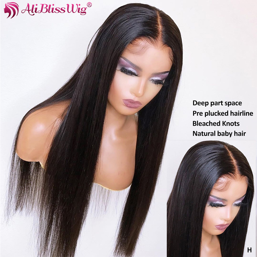 13x6 Straight Lace Front Human Hair Wigs For Black Women Brazilian Remy 360 Lace Frontal Wigs With Baby Hair Lace Front Wig 150%