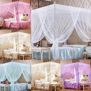 Mosquitera canomys de encaje de princesa romántica, sin marco para cama doble de tamaño Queen King, a prueba de polvo, mosquitera, ropa de cama