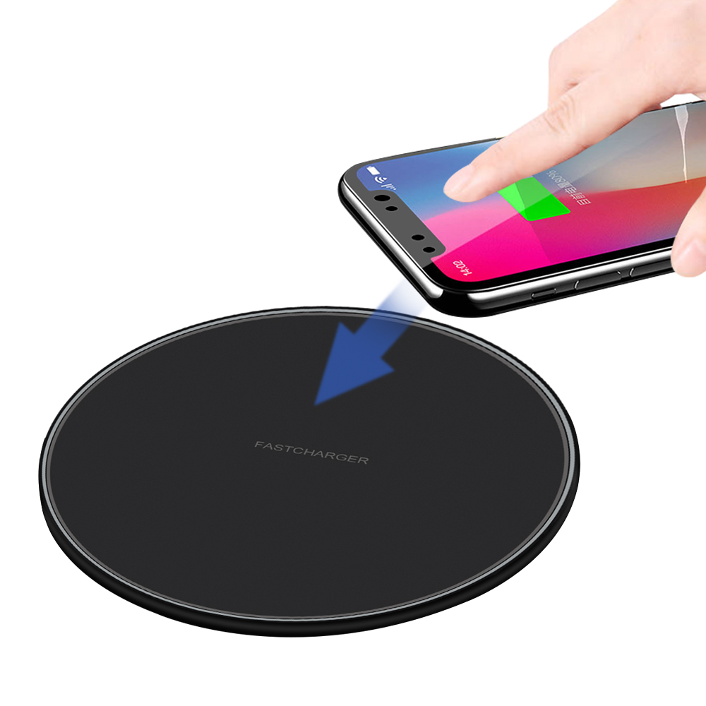 Qi Wireless <font><b>Charger</b></font> For iPhone 11 Pro 8 X XR XS Max QC 3.0 <font><b>10W</b></font> Fast Wireless Charging for Samsung S10 S9 S8 <font><b>USB</b></font> <font><b>Charger</b></font> Pad image