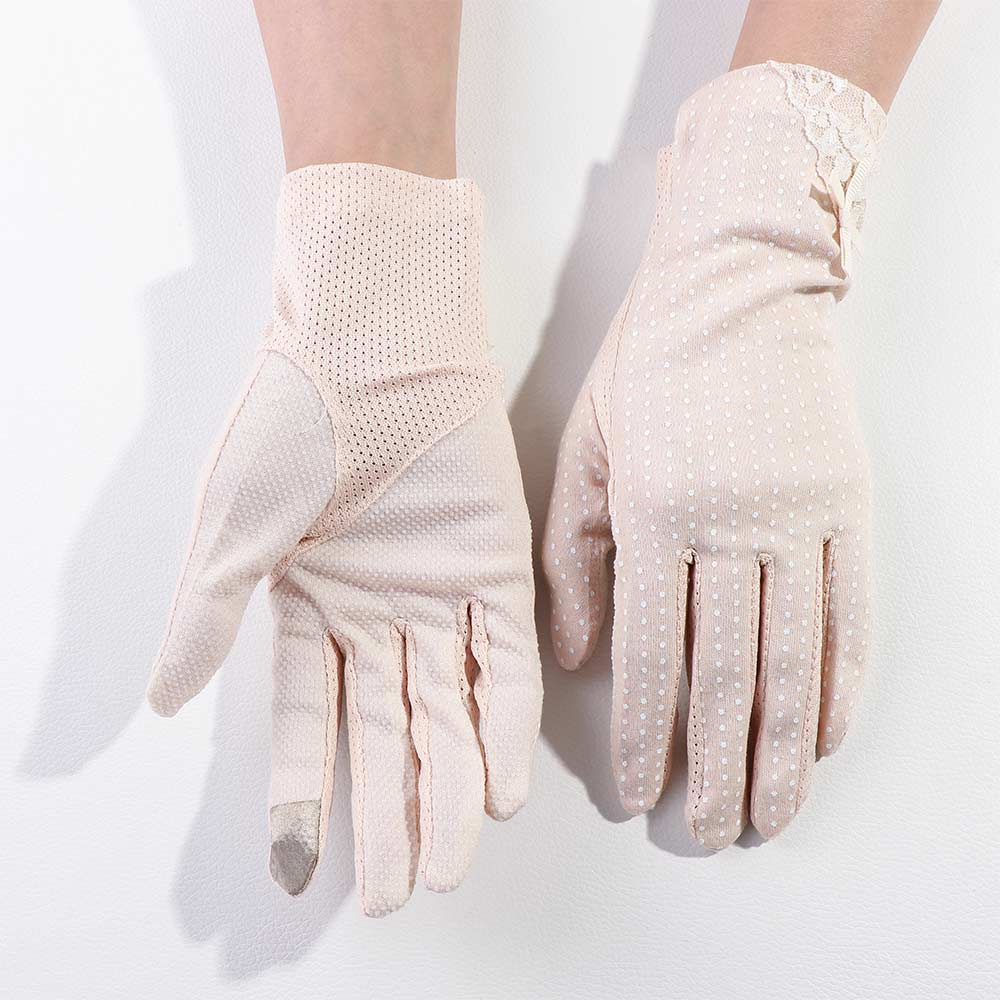 Women Lace Sunscreen Gloves Summer Spring Lady Stretch Touch Screen Anti Uv Slip Resistant Driving Glove Breathable Guantes