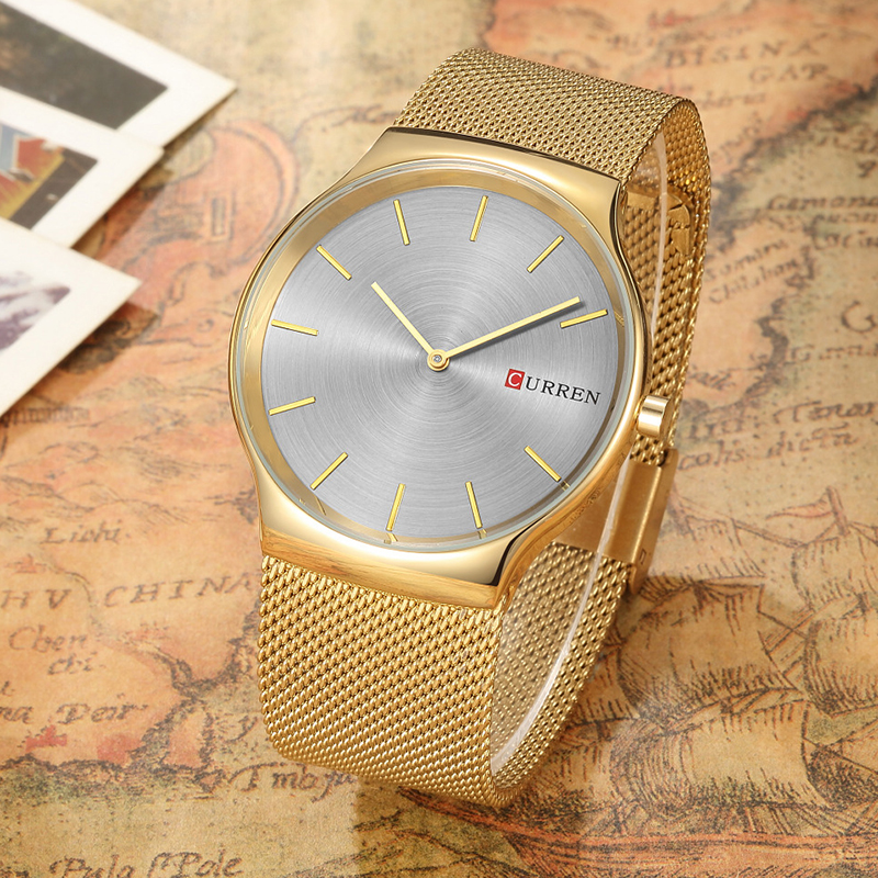CURREN 8256 Watches men luxury brand Watchquartz sport military men steel wristwatches dive 30m Casual watch relogio masculino 5