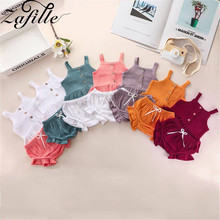 cute baby summer clothing set 2019 new cotton short sleeved striped shirts shorts toddler baby clothes kids outfits sy f192210 ZAFILLE New Solid Baby Girl Clothes Cotton 2Pcs Top+Shorts Infant Outfits Set Toddler Summer Girls Clothing Sleeveless Kids Suit