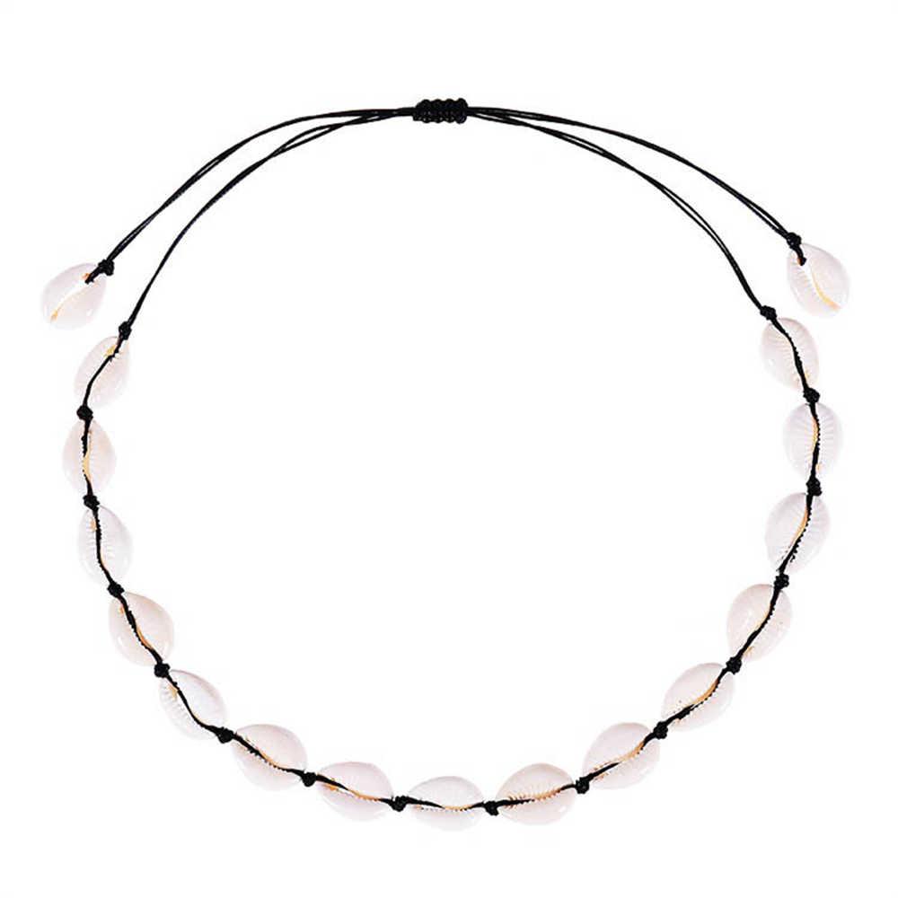 Kolye Vsco Collares Choker Cross-border HOT สไตล์โบฮีเมียสร้อยคอธรรมชาติชุดสร้อยข้อมือบริสุทธิ์ด้วยตนเองทอผ้า Collarbone CHAIN