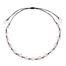 Kolye Vsco Collares Choker Cross-border Hot Style Bohemia Natural Necklace Bracelet Suit Pure Manual Weaving Collarbone Chain