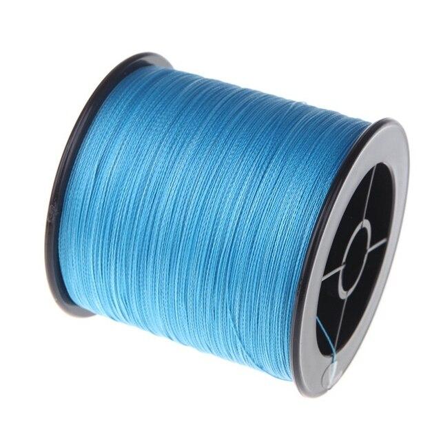 500 M 30 LB 0.26mm żyłka wytrzymałość PE pleciony 4 nici niebieski