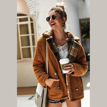 Diwish 2019 Autumn And Winter Women Jacket Long Sleeve Casual Fashion Loose womens Cotton Fluffy Warm Outerwear Cardigan Coat