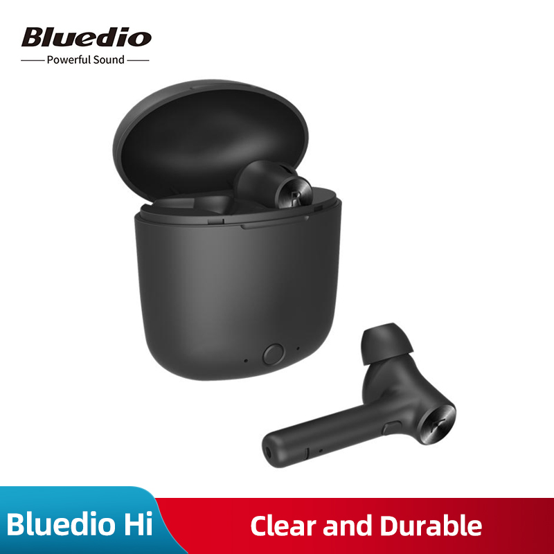 New Original Bluedio Hi Bluetooth Wireless Earphone for Phone Stereo Sport Earbuds Headset with Charging Box Built in Microphone-in Bluetooth Earphones & Headphones from Consumer Electronics on AliExpress