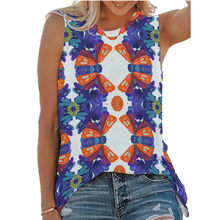 New Womens 2021 Summer Flower Fasion Slim Fit Sleeveless Sexy O Neck Off Shoulder Pullover Harajuku T Shirt Streetwear